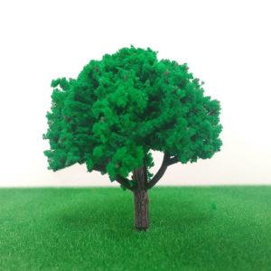 cây mô hình thân nhựa có lá
