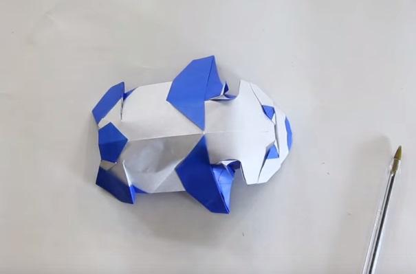 Cách gấp con gấu trúc bằng giấy Origami h11