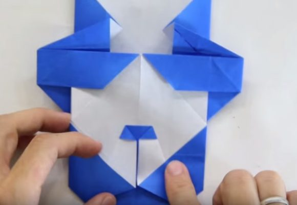Cách gấp con gấu trúc bằng giấy Origami h8