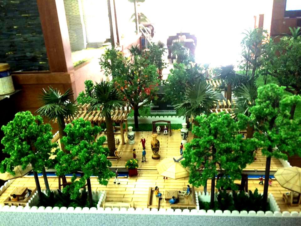 Bán cây xanh mô hình kiến trúc
