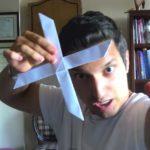Hướng dẫn cách gấp vũ khí boomerang bằng giấy 4 cánh