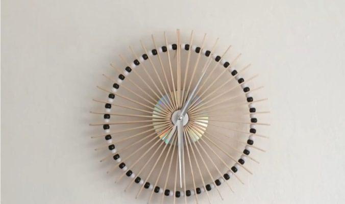 Cách làm đồng hồ Handmade treo tường từ que kem