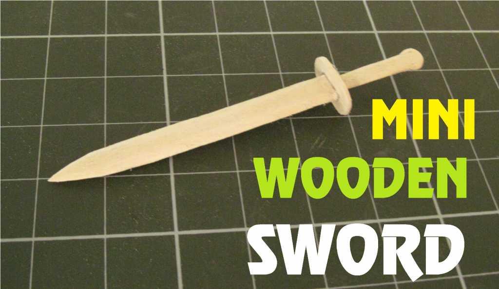 Cách làm kiếm gỗ bằng que kem