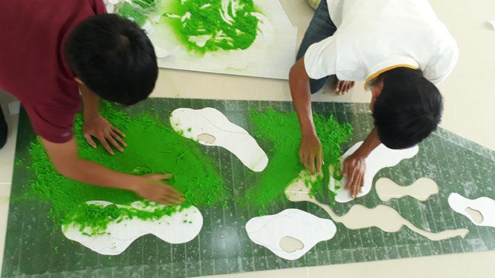 cách làm thảm cỏ mô hình cực đẹp