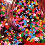 Hướng dẫn làm trang sức hình trái tim bằng hạt nhựa nhiều màu