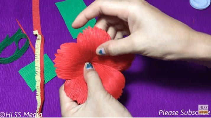 Hướng dẫn làm hoa dâm bụt bằng giấy