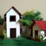 Hướng dẫn làm mô hình nhà bằng giấy đẹp mà đơn giản