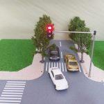 Cách làm mô hình đèn giao thông đặt ngay ngã tư đường