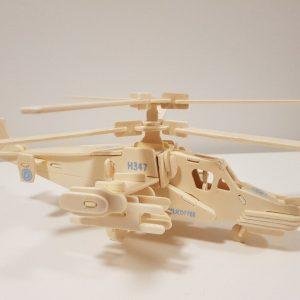 Mô hình Trực thăng Black Shark bằng gỗ