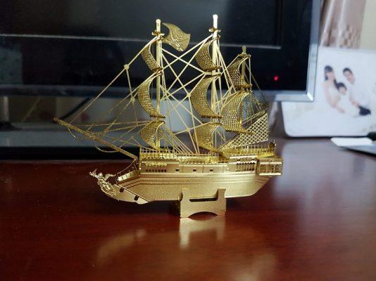 Ảnh thực tế mô hình thuyền Golden Hind