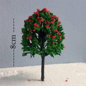 Cây xanh mô hình mẫu cao 8m tán màu đỏ VM04-N64