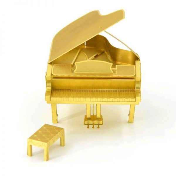 Mô hình đàn PIANO làm bằng Kim Loại Gold