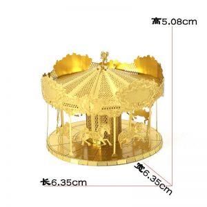 Mô hình đu quay làm bằng kim loại Gold