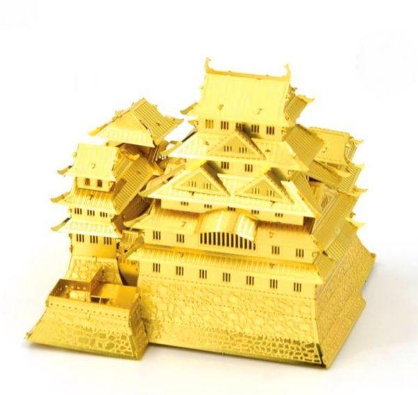 Mô hình lâu đài Himeji Castle nhật bản bằng kim loại vàng