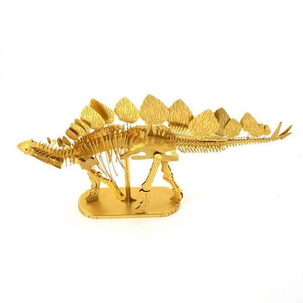 Mô hình hóa thạch khủng Long Stegosaurus tự lắp ráp bằng kim loại