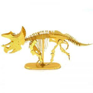 Mô hình Hóa thạch khủng long Triceratops bằng kim loại