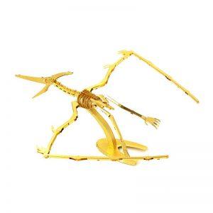 Mô hình kim loại Gold lắp ráp hóa thạch Pteranodon