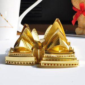 Mô hình nhà hát OPERA SYDNEY bằng kim loại Gold