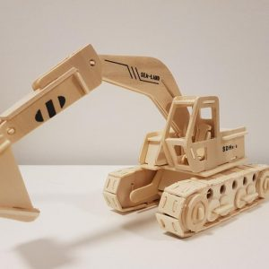 Mô hình xe múc làm bằng gỗ ép cao cấp