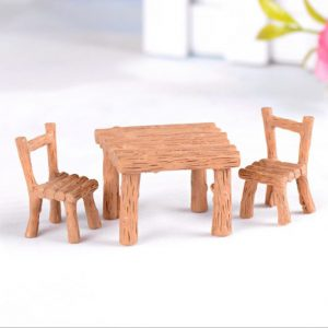 Bộ bàn ghế giả gỗ