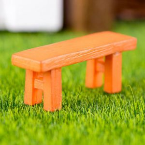 Ghế trang trí ngoại cảnh màu cam