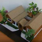 Cách làm nhà đôi biệt thự đơn giản từ bìa carton