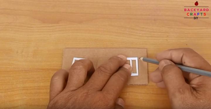 cách làm nhà đôi từ bìa carton