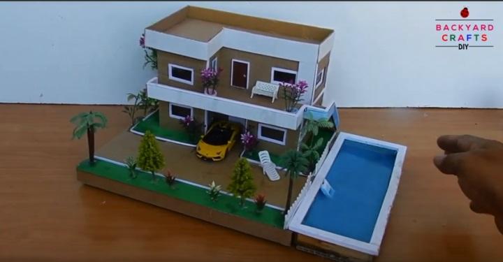 cách làm nhà hai tâng có hồ bơi