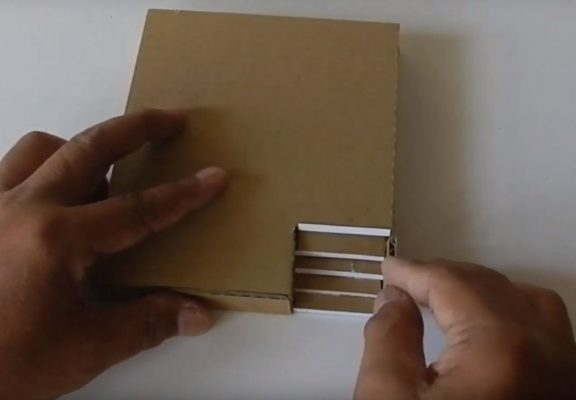 làm nhà bằng bìa carton