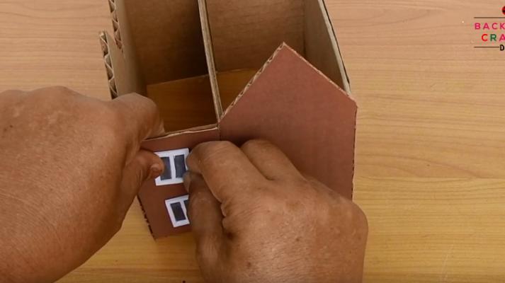 làm nhà biệt thự bằng bìa carton