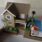 Cách làm nhà biệt thự bằng bìa carton có hồ bơi phần 1