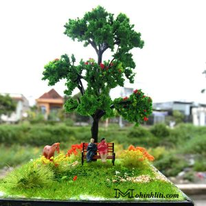 mô hình cặp đôi ngồi gốc cây