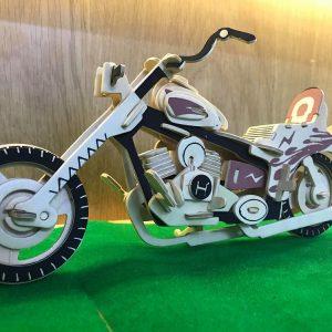 Mô hình xe mô tô bằng gỗ