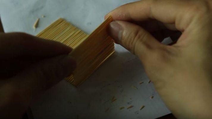 cách làm nhà bằng tăm tre